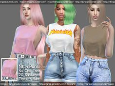 No Chill Top | NitroPanic Sims 4 Game Mods, Sims Games, Sims 4 Mods Clothes, Sims 4 Clothing, Woman Clothing, Sims 4 Cas, Sims Cc, Sims 4 Cc Folder, Play Sims 4