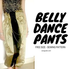 Learn to make a simple and easy to sew shirred waist belly dance pants Sewing Tutorials, Sewing Patterns, Sewing Ideas, Thai Pants, Dance Pants, Pants Pattern, Dance Outfits, Dance Costumes, Belly Dance