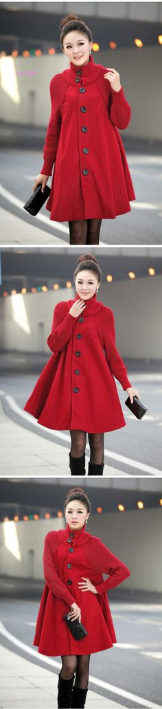 Maternity coat Windbreaker clothes autumn and winter outerwear expansion skirt elegant coat trench clothing for pregnant woman-inCoats from ...