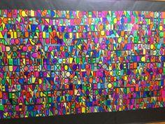 Mural fer pels alumnes d'infantil de l'escola Vedruna Immaculada inspirat en Paul Klee