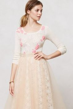 Anthropologie Peony Applique Pullover on shopstyle.com