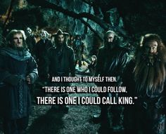 I think this is the point in the movie that I fell in love with thorin.