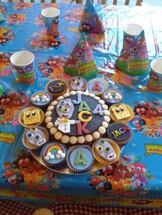 Moshi monsters cake & cupcake toppers