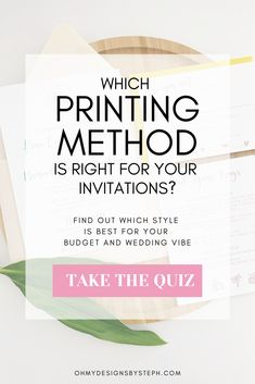 Foil and letterpress and thermography, oh my! Take the quick quiz to find out your wedding invitation style now!