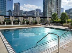 The rooftop pool at