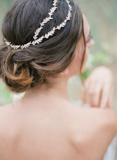 Wedding Hairstyles : Illustration Description Greek Goddess inspired head chain: www. Wedding Hair And Makeup, Wedding Updo, Wedding Beauty, Wedding Hair Accessories, Wedding Hairstyles, Hair Makeup, Wedding Gowns, Blush Wedding Cakes, Special Occasion Hairstyles