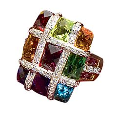Bellarri 18k Gemstone & Diamond Ring
