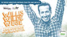 """Am 27.02.2015 kommt Reporter Willi Weitzel in die Liederhalle. In den letzten Jahren hat er deshalb sehr viele Geschichten gesammelt, Fotos geschossen und Videos gedreht. Sein Live-Vortrag steckt voller lustiger und spannender Geschichten. """"Willis wilde Wege"""" - Ein Abenteuer-Vortrag für die komplette Familie. Karten gibt's hier:   http://www.outdoor-ticket.net/tickets/details/willis-wilde-wege-2015-liederhalle-stuttgart-2015-02-27_16-00/"""