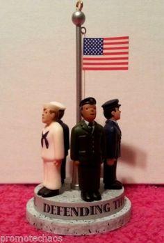Hallmark Keepsake Ornament Protecting Flag Decoration Holiday Memory Card Heroes   eBay FREE U.S. SHIPPING!!!