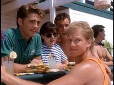Brandon, Brenda, Dylan, & Steve. Beverly Hills Beach Club!  Party Fish season 2  Beverly Hills 90210 Follow board for more BH90210!