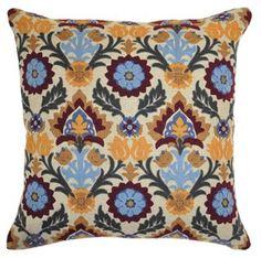 Suzani 18x18 Cotton Pillow, Multi