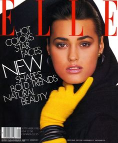 "Model Yasmin LeBon on the cover of the very first issue of US ""Elle"" magazine, September A Happy birthday to the magazine this month. Wish they can get back to covers like this, and with gorgeous models. Yasmin Le Bon, Fashion Magazine Cover, Fashion Cover, Magazine Covers, Elle Magazine, Best Fashion Magazines, 80s And 90s Fashion, Bold Fashion, Fashion Vintage"