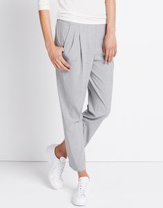 Bundfaltenhose grau online kaufen | Caspar melange soft grey von someday Fashion