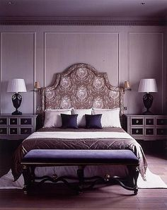 This is the closest inspiration to my ideal purple bedroom that I have found so far.