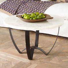 Wisteria - Furniture - Coffee Tables -  Sleek Marble-Top Coffee Table - $499.00