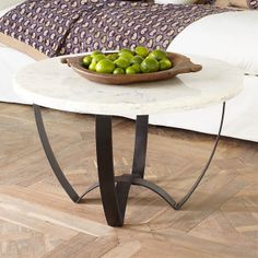 Wisteria marble top coffee table
