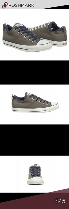 Converse new in box never worn canvas,True to Size Dual collar navy blue and charcoal Converse Shoes Sneakers