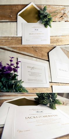 Creative Wedding Stationery From Mr