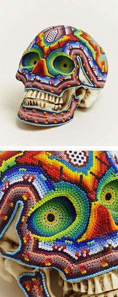 Mexican Skullsugar by Deni Dessastra, via Behance// beautiful line work