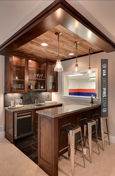 So good - | Check out more ideas for Home Bars at decopins.com | #homebars #bars #minibars #liquor #beer #bedrooms #bathroom #bathrooms #homedecor #beds #interiordesign #home #homedecoration #design