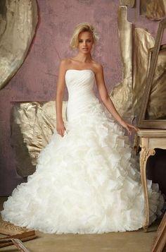 Brautkleid von Mori Lee, aus Organza