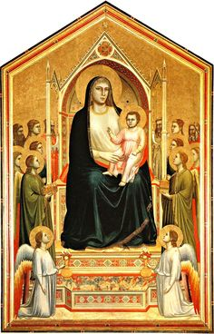 Madonna Enthroned (ca. 1310) Florence, Giotto di Bondone