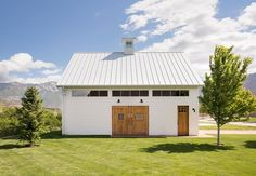 This remodel had the perfect space for an adorable detached barn garage. What do you think? Barn Garage, Garage Doors, Garage Storage Cabinets, Garage Remodel, Garage Apartments, Garage Design, Detached Garage, Custom Homes, Home Remodeling