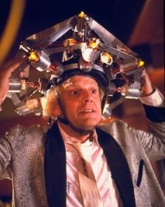 Great Scott! Doc Browns mind reading helmet has come to life!
