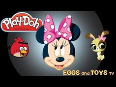 Play Doh Magic surprises LPS MLP Minnie Mouse Angry Birds Trashies - Egg...