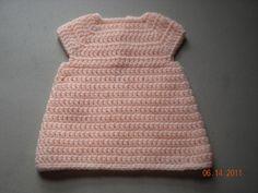 Simple and cute crochet A-Line Dress by Bella Bambina Knits! Newborn size Bernat Baby Sport F-Hook Free pattern