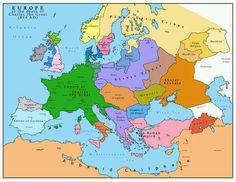 Europe 814 a.d.