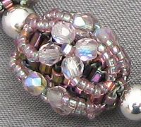 Free DIY tut - Beaded Bead necklace component.  Tutorial from Janie's Beads.