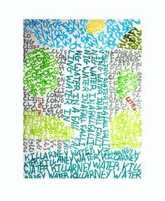 TYPOGRAPHY LANDSCAPE by heidabjorg, via Flickr Word Drawings, Arts Ed, Art Classroom, Online Art, Ideas Para, Spelling, Art For Kids, Workshop, Teaching