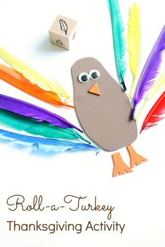 Roll-a-Turkey Thanksgiving Activity for Toddlers and Preschoolers