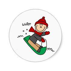 Winter Sledding Stickers