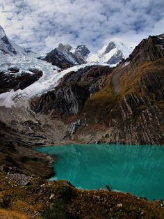 Travel Inspiration for Peru - Laguna Solteracocha on the Huayhuash Trek in Peru