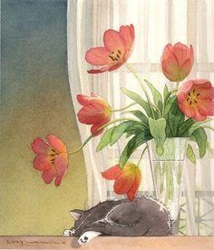 Japanese illustrator ma ri ko Kanazawa (Kanazawa Mariko)