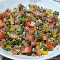 Fun Easy Recipes, Clean Recipes, Veggie Recipes, Salad Recipes, Vegetarian Recipes, Healthy Recipes, Go Veggie, Lentil Salad, Going Vegan