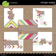 Templates: Vintage Angles 4 by Amy Martin