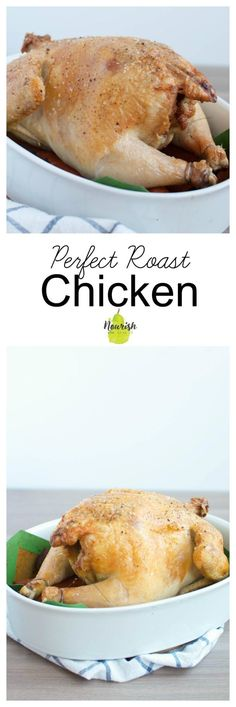 Wow yourself and your company with the easiest and juiciest roast chicken. It just takes 5 minutes to prep, then you'll pop it in the oven for minutes Good Healthy Recipes, Healthy Cooking, Real Food Recipes, Food Tips, Eating Healthy, Healthy Meals, Delicious Recipes, Cooking Tips, Entree Recipes