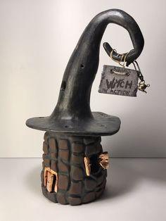 Fairy Light House Ceramic Fairy Garden Candle Holder  | eBay