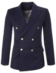FLATSEVEN Mens Designer Slim Navy Double Breasted Peaked Lapel Blazer Jacket (BJ444) Navy, Boys 2XL FLATSEVEN http://www.amazon.com/dp/B00KPTOEY4/ref=cm_sw_r_pi_dp_Kvg2ub173R1TH  Designer Double Breasted Peaked #Lapel #Blazer #FLATSEVEN #men #fashion #menswear