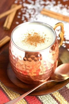 This Mexican Sweet Rice Drink (Atole de Arroz) is a creamy cinnamon and vanilla-infused hot beverage with a porridge-like consistency that's perfect cold weather days.