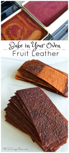 How to Make Fruit Leather in Your Oven + Grape Pear Fruit Leather recipe! Homemade fruit leather is much easier than you think. It's a delicious, allergy friendly, healthy treat that is high in fiber. As a healthy bonus, there is no added sugar!