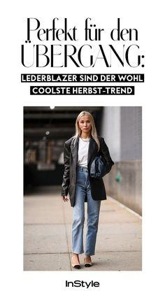 Perfekt für den Übergang: Lederblazer sind der wohl coolste Herbst-Trend 2020