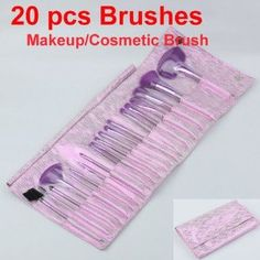 Ideal Purple Cosmetic Makeup Brush Brushes Cosmetic Pouch Set 20pcs by Neewer. $14.12. 20pcs brush. Protective fold-up holder bag in fashionable outlook color. Giving you a professional and flawless finish. Each brush has its own individual compartment within the packaging and also comes with its own plastic protector which will keep the brushes in excellent condition.. Color: Purple. Features:  *    This set is professional & convenience product *    Soft line quality ...