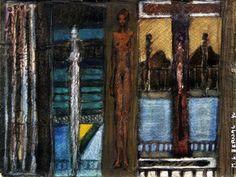 Couleur De Nuit - 18 x 24 cm, Aquarelle et pastel sur papier
