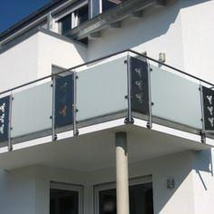 Geländer mit Glas und Blech