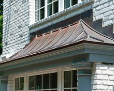 Check out the latest Nice Garage Awning Copper Bay Window Awning suggestions from Tammy Simmons to update your living area. & copper roofing over bay windows | Custom Copper Hoods Bay Window ...
