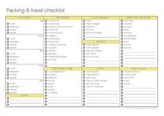 Packing & Traveling Checklist